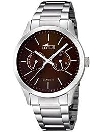 63662563d9ac Lotus Reloj Analógico para Hombre de Cuarzo con Correa en Acero Inoxidable  15954 2