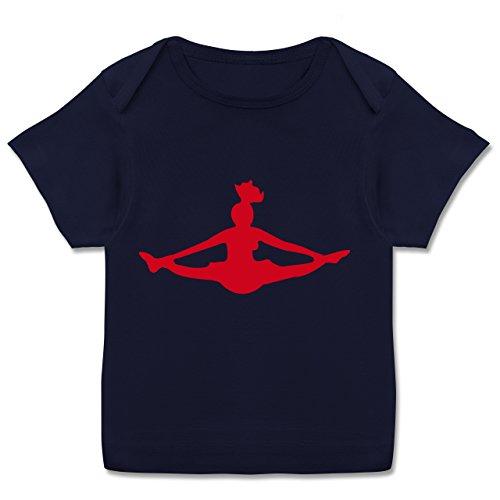Sport Baby - Cheerleading - 56-62 (2-3 Monate) - Navy Blau - E110B - Kurzarm Baby-Shirt für Jungen und Mädchen