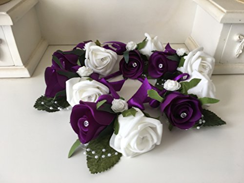 wedding-flowers-set-of-6-luxury-double-buttonholes-in-cadburys-purple-and-white