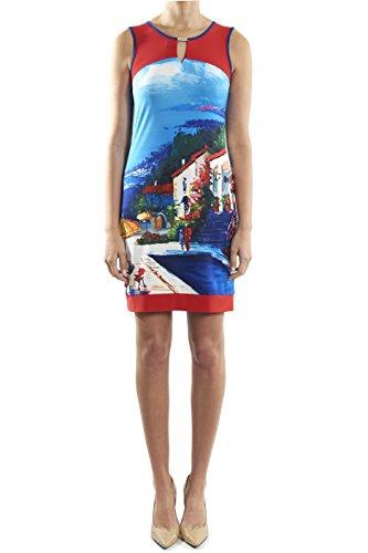 Joseph Ribkoff Sleeveless colorful City Print Dress Style 182651