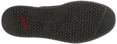 Rieker 51611, Sneaker a Collo Alto Donna Nero (Graphit/schwarz)