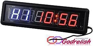 Godrelish Tabata 1.8LED Crossfit Fitness Gym Boxe Interval Conto alla rovescia Orologio da Parete