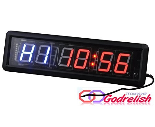 GODRELISH Reloj Pared LED Gimnasio Crossfit Temporizador