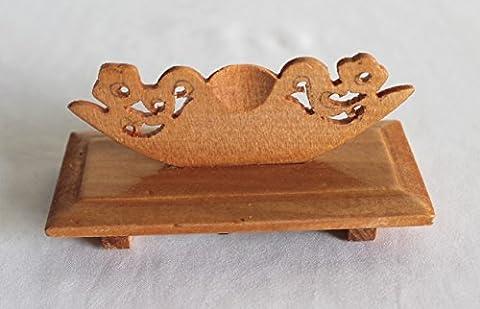 AAF Nommel ® 1 Fächerständer 9,5 x 4 x 4 cm aus Holz zum Aufstellen kleiner Sommer- oder Dekofächer Nr. 02