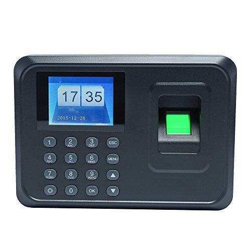 Aibecy Huellas Biométrico de Asistencia Máquina /Registrador de Cheques del Empleado / 2.4 Pulgadas...