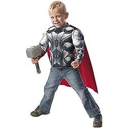 Avengers Disfraz infantil Thor, pecho y martillo, en caja, M (Rubie's Spain 31484)