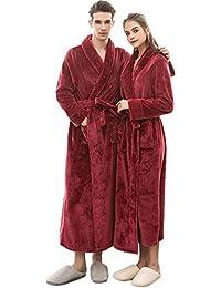POLP Albornoz Mujer Hombre Unisex camisón Largo Abrigo Albornoz Mujer Ducha Bata de Baño Ropa de Dormir Ropa de baño Parejas Batas Albornoz…