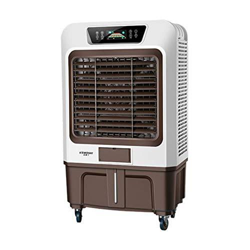 Ventilatori CJC Condizionatori Industria Raffreddatore d'Aria Evaporativo con Telecomando E Display A LED, 3 velocità, Fast Cools Rooms Box Auto, Magazzino (Color : Brown, Size : 75x47x128cm)