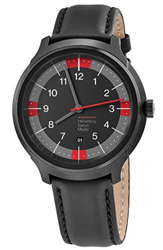 Mondaine orologio da uomo con cinturino in pelle analogico swiss-quartz mh1.b1222.lb