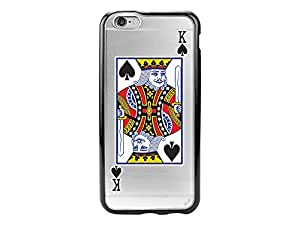Cellet Proguard Case for iPhone 6 - Non-Retail Packaging - King of Spades/Clear