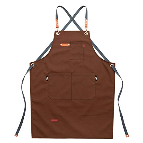 LQW HOME-delantales Denim Apron Restaurant Cafe Delantal