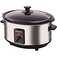Morphy Richards Oval Slow Cooker, 6.5 L - Silver