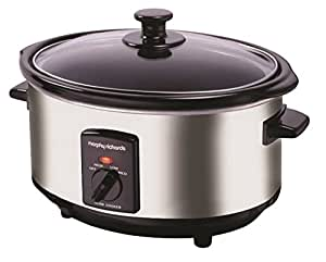 Morphy Richards 48715A Oval Slow Cooker, 6.5L - Silver
