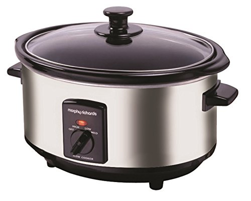 41R72NU4lcL - Morphy Richards 48715A Oval Slow Cooker, 6.5L - Silver
