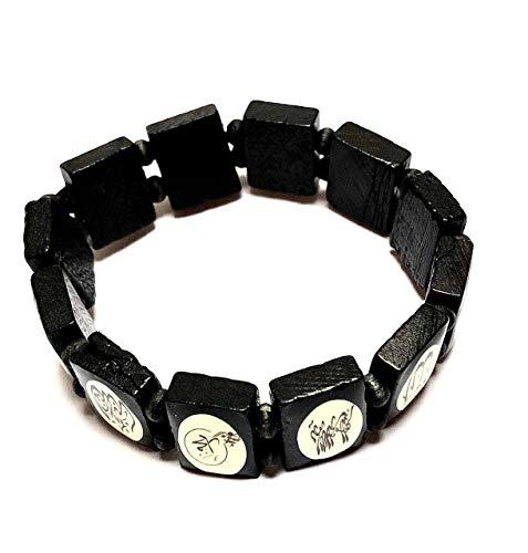 R&B Armband,Armbänder, Heilige, Moslem, Islam,Muslimische Armbänder (schwarz)