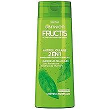 Garnier Fructis Color Resist - Champú fortificante anticaspa 2 en 1 para cabello normal, 250