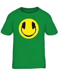 Shirtstreet24, HEADPHONES SMILEY, Kopfhörer Dance Music Kids Kinder Fun T-Shirt Funshirt