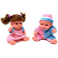 FunBlast Beautiful Doll Set for Kids, Little Handsome Boy Beautiful Girl Doll Set for Kids, (Random Color)
