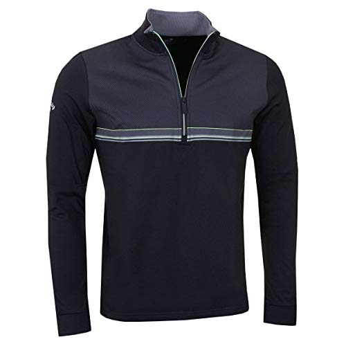 Callaway Golf Herren Drucken Chill Out 1/4 Zip Pullover - Caviar - S - Golf Pullover Für Herren