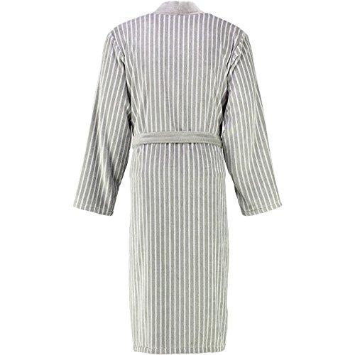 Cawö Herren Bademantel Saunamantel Walkvelours Qualität Kimono Form Stein
