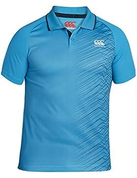 Camiseta polo Canterbury para hombres, Vapodri Graphic Poly, hombre, VapoDri Graphic, Blue Danube, XL
