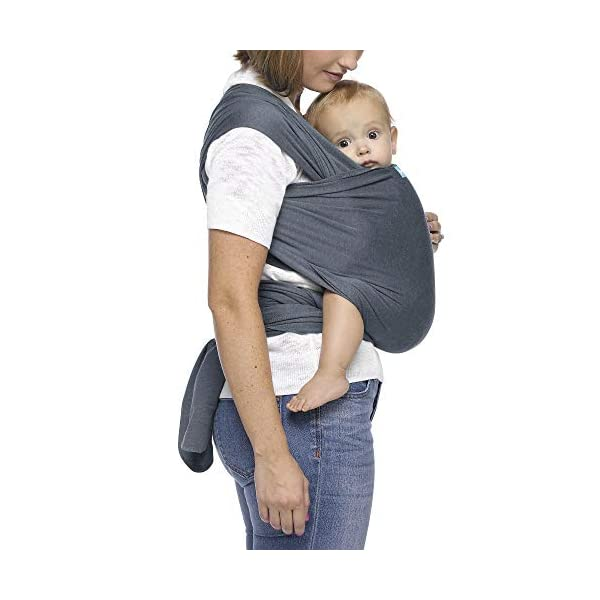 MOBY Evolution Baby Wrap Carrier for Newborn to Toddler up to 30lbs, Baby Sling from Birth, One Size Fits All, Breathable Stretchy Made from 70% Viscose 30% Cotton, Unisex Moby 70% Viscose / 30% Cotton Knit One-size-fits-all Grows with baby, from newborn to toddler 24