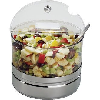 Buffet Display Cooling Bowl - Size - 2.5Ltr - 200(dia) x 140(h) mm - Ideal For Buffet & Food Displays!