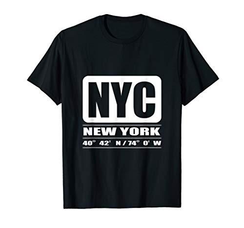 NYC Freiheitsstatue Kompass T-Shirt ()