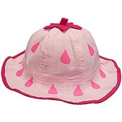 Kanggest Sombrero del Cubo del Algodón del Verano del Bebé con Gotas de Agua Patrón Sombrero de Peces Pequeños para Viajes Playa de Protección Solar (Rosado)