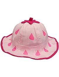 Kanggest Sombrero del Cubo del Algodón del Verano del Bebé con Gotas de Agua Patrón Sombrero de Peces Pequeños para Viajes Playa de Protección Solar