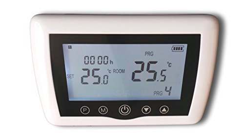 SM-PC®, Digital Funk Raumthermostat Thermostat programmierbar Touchkey weiß Serie:TOP #a46 -