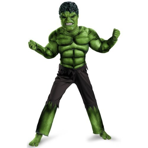 Boys Hulk Avengers Classic Muscle Costume - Kid Hulk Kostüm