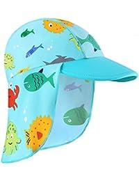 HUAANIUE Traje de baño para niños pequeñas Traje de baño de Manga Corta Traje de baño de una Pieza Zip Rash Guard Protección Solar Traje de baño UPF 50+ Natación Bañarse Ropa de Playa