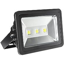 LE Foco proyector LED 150W para exteriores, equivalencia SAP 400W, 14500lm, luz diurna 6000K, resistente al agua IP65, luz amplia, luz de seguridad