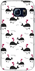 The Racoon Lean Printed Designer Hard Back Mobile Phone case Cover for Samsung Galaxy S6 Edge. (killerwhal)