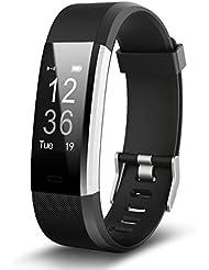 Fitness Tracker Bluetooth Smart Armband Pulsmesser Wasserdicht Smartband mit schrittzaehler Herzfrequenz activity Schlafanalyse Kalorienzähler uhr kompatibel iPhone Android Handy für Weihnachtsgeschenke