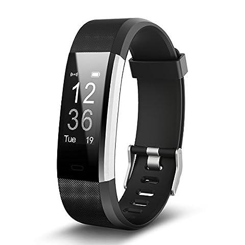 Fitness Tracker Bluetooth Smart Armband Pulsmesser Wasserdicht Smartband Musiksteuerung Aktivitätstracker Schlafanalyse Kalorienzähler Sport Gesundheit Armband Swatch für iPhone Android Handy kompatibel Die uhr für Weihnachtsgeschenke armband115plus