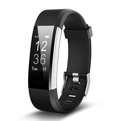 EFOSHM ID115plus HR Smart Armband,Fitness Tracker, Bluetooth 4.0 Fitness Armband, Unterstützung ios7.1 oben android4.4 und höher (schwarz)