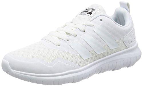 sneakers for cheap feb96 7f48b adidas Cloudfoam Lite Flex W Chaussures de Sport pour Femme, Blanc, 38.6