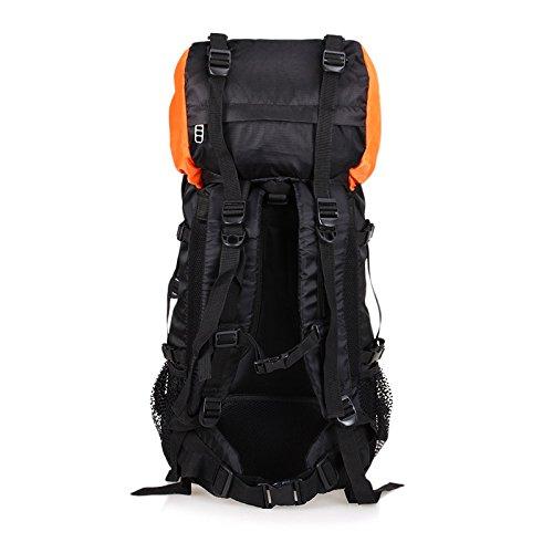 BM Outdoor Professionelle Bergsteigen Tasche 50L 60Liter Reise Camping Wandern Rucksack Mode Rucksack Pack Orange