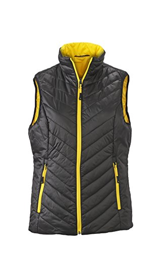 James & Nicholson Lightweight Vest Gilet noir/jaune
