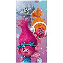 Trols 2200002148140x 70cm personajes baño y toalla de playa