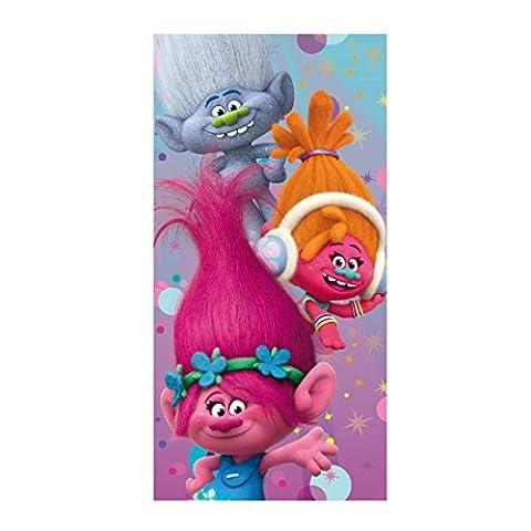 Trolls 2200002148 serviette de plage et personnage de bain 140x