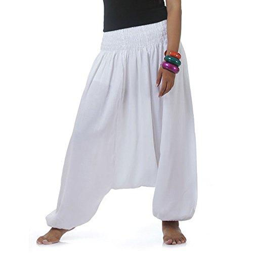 Für Kostüm Sportswear Jungen (Hippie Hose Haremshose Aladinhose Pumphose für Damen & Herren 36 38 40 42)