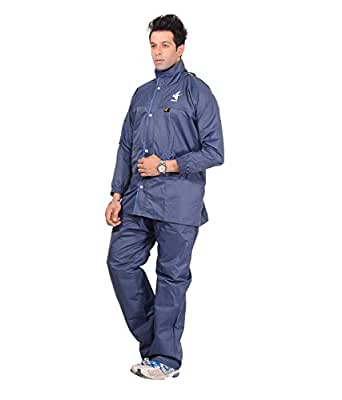 Allwin Men's Micro Polyester Raincoat (Size - XXL, Navy)