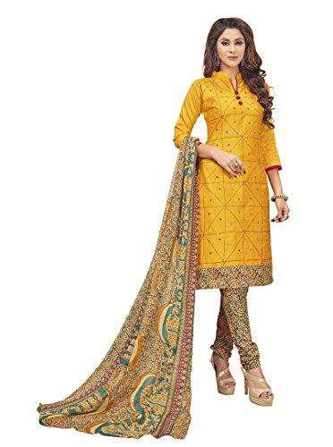 Vivaa Fashion Yellow Colored Cotton Salwar Suit. VF24571