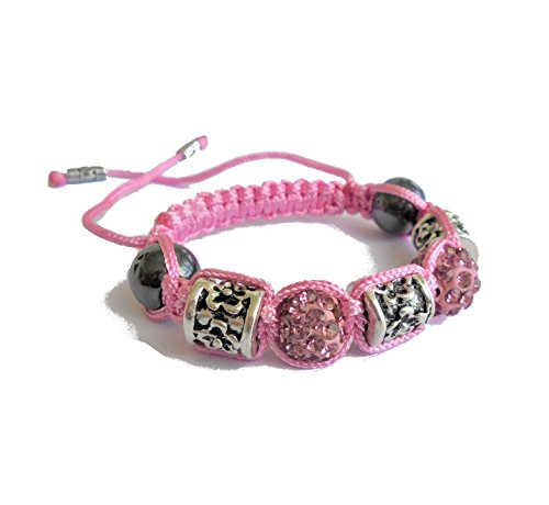 PANDORESECRETS Shamballa Bracelet Enfant (Fille 6-12 ans) Rose