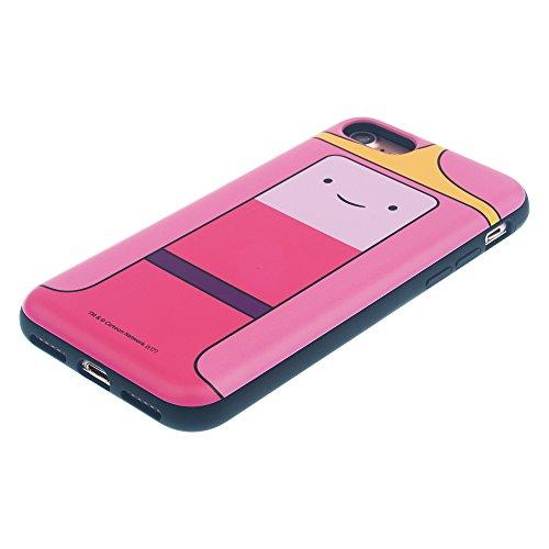 iPhone 6s/iPhone 6custodia Adventure Time cute Slim Slider cover: slot assorbimento urti antiurto Dual Layer protettiva Holder Heavy Duty bumper per [iPhone 6/iPhone 6s] case–Adventure Time Princes Princess Bubblegum (iPhone 6S / 6)