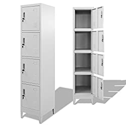 vidaXL Locker Cabinet with 4 Compartments 38x45x180cm Changing Room Storage