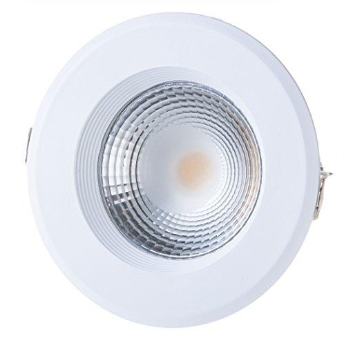 V-TAC SKU.1272 Downlight LED High LUMENS 10W VT-26101, Plastique,et Autre materiaux, 10 W, Blanc, Profondeur : 71 mm
